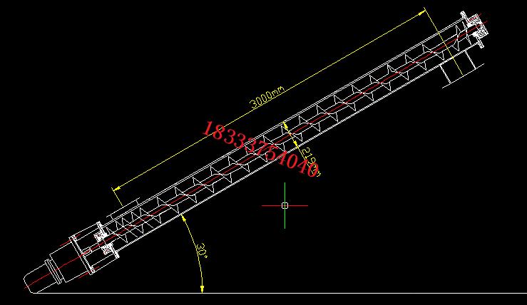 倾斜输送螺旋输送机结构图